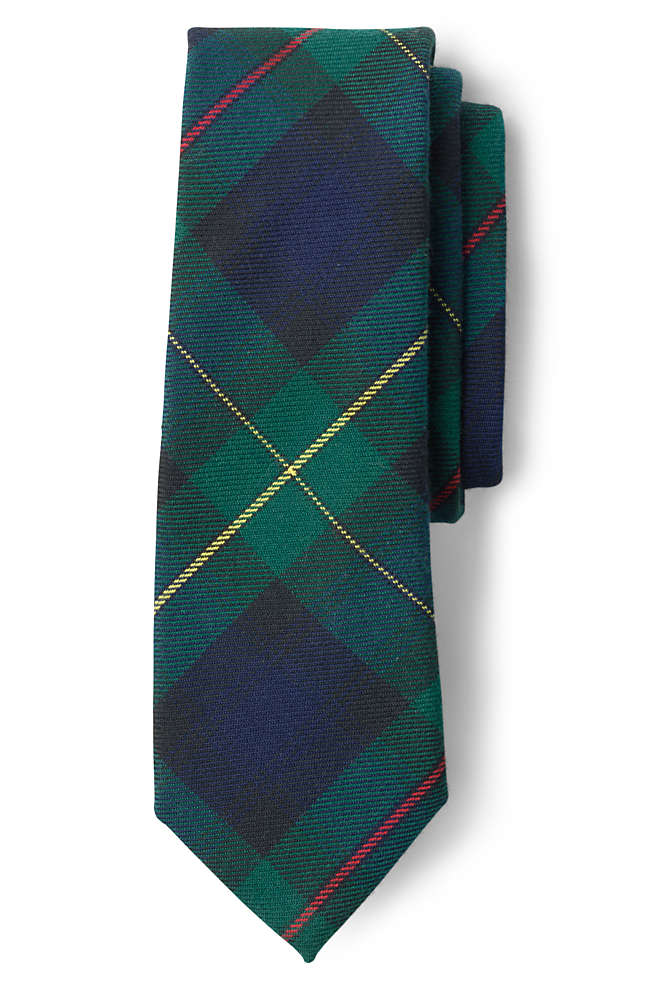 School Uniform Kids Plaid To Be Tied Tie, Front
