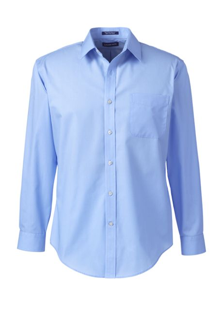 Men's Tailored Fit Straight Collar Broadcloth Shirt