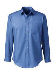 Men's Tall Long Sleeve Tailored Straight Collar Broadcloth Dress Shirt