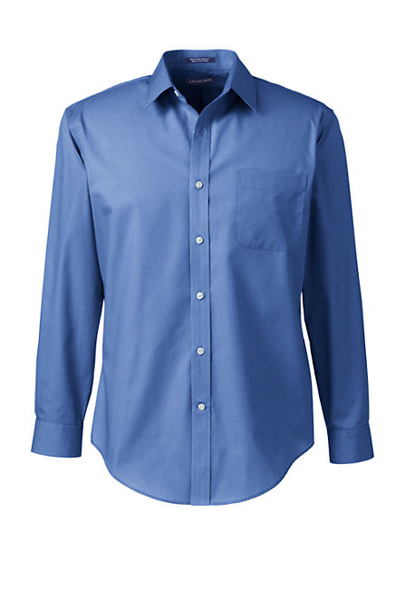 Men 39 s regular long sleeve tailored broadcloth shirt Straight collar dress shirt