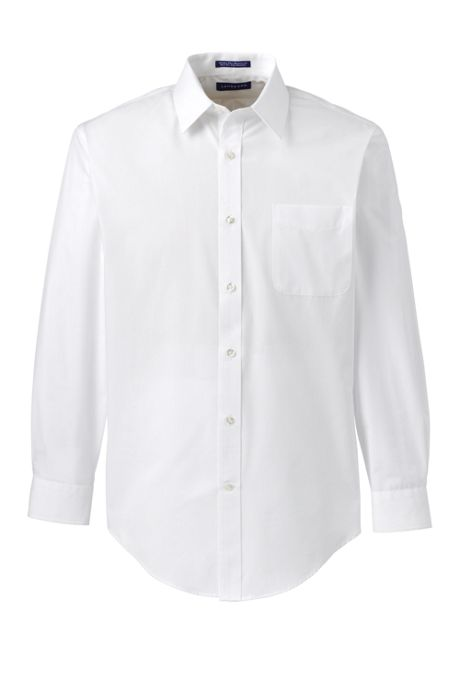 Men's Long Sleeve Tailored Straight Collar Broadcloth DressShirt