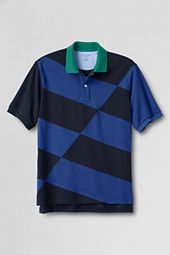 Men's Diagonal Colorblock Polo Shirt