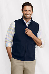 Men's Brushed Pique Zip Vest