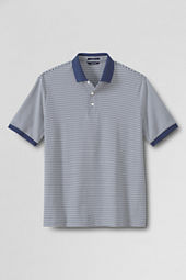 Men's Short Sleeve Stripe Supima Polo Shirt