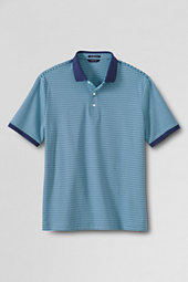 Men's Short Sleeve Stripe Supima Polo