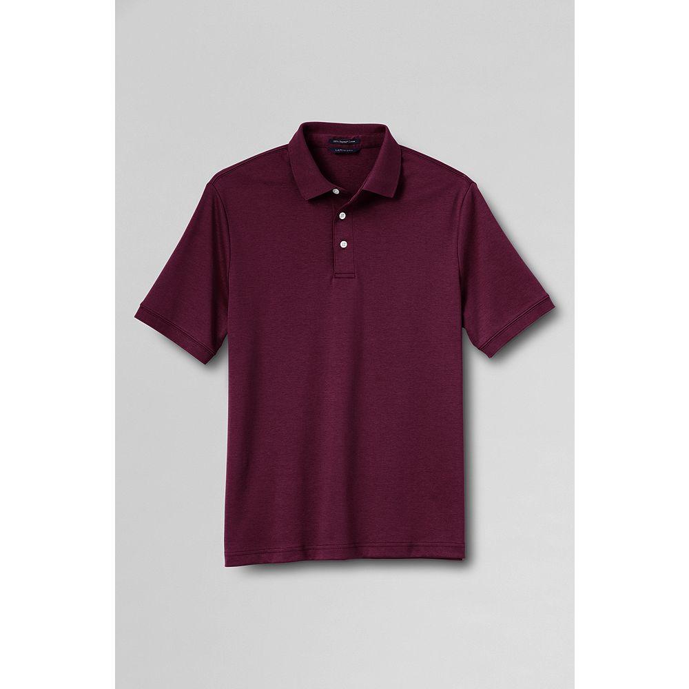 Lands' End Men's Short Sleeve Supima Interlock Polo Shirt at Sears.com