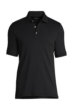 Short Sleeve Super Soft Supima Polo Shirt 428241: Black