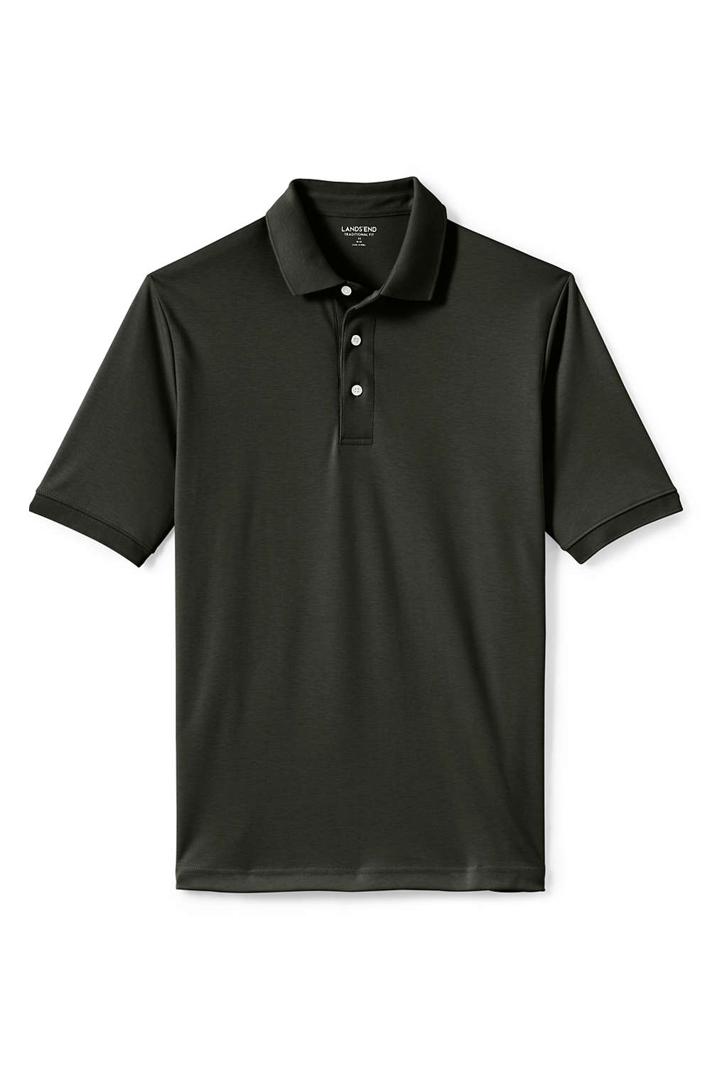 06d90efb76a0 Men s Short Sleeve Supima Polo Shirt from Lands  End