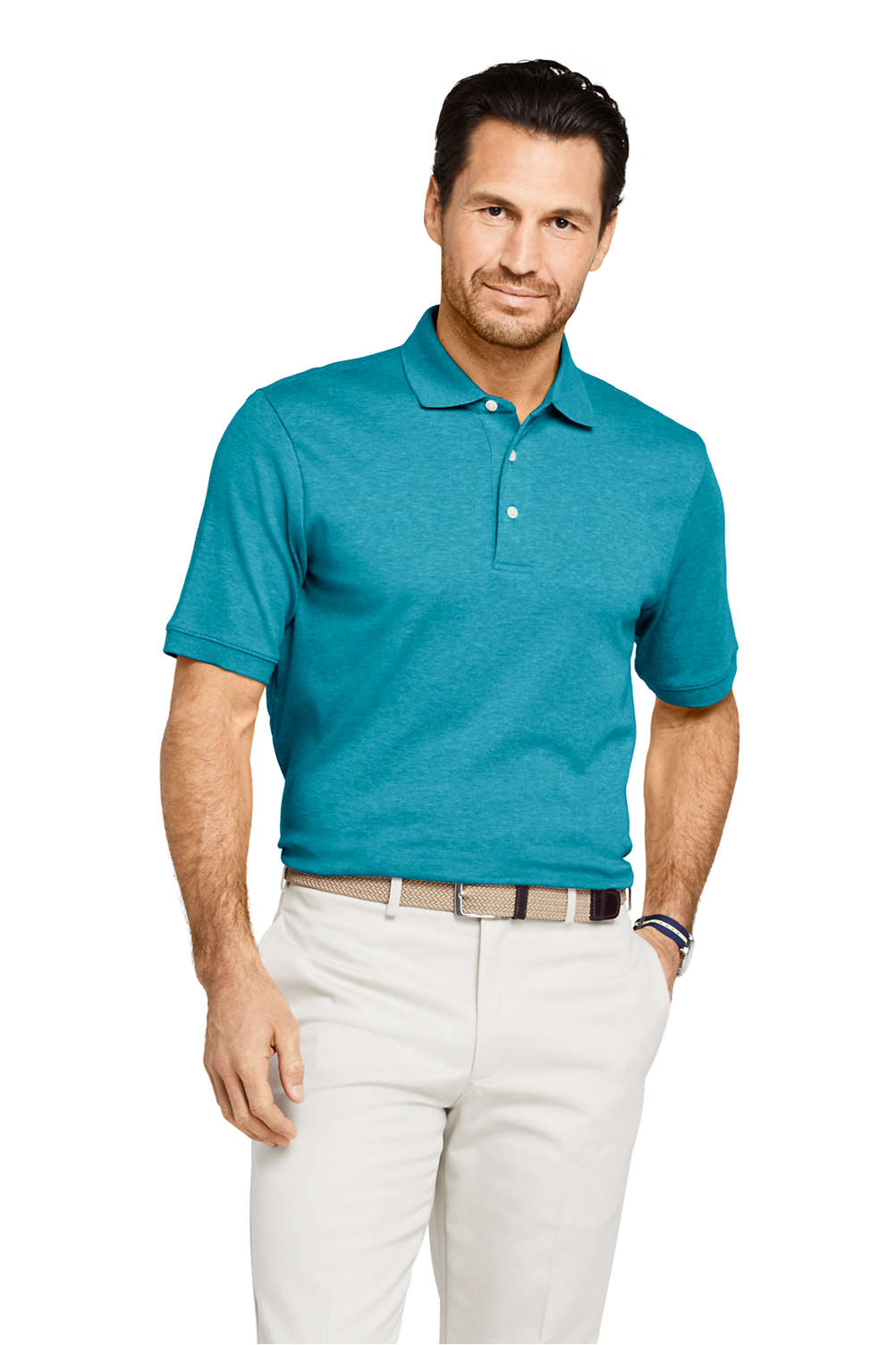351761304 Men s Supima Polo Shirt from Lands  End