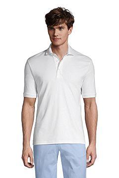 Short Sleeve Super Soft Supima Polo Shirt 428241: White