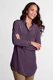Women's Long Sleeve Silk Tunic