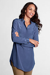 Women's Silk Collarless Tunic