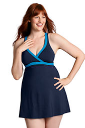 Women's Plus Size Beach Living V-neck Swimdress