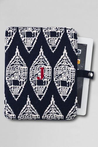 Snowshoe Needlepoint iPad® Case