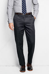Men's Plain Front Traditional Fit No Iron Dress Twill Trousers