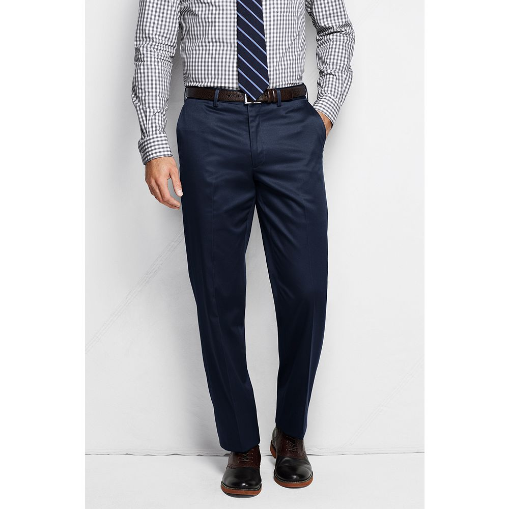 Lands' End Men's Plain Front Traditional Fit No Iron Twill Dress Pants at Sears.com