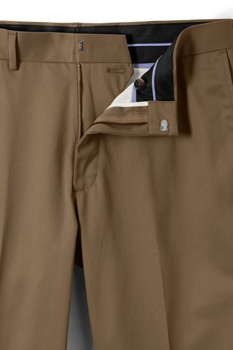 Men's Long Traditional Fit No Iron Twill Dress Pants