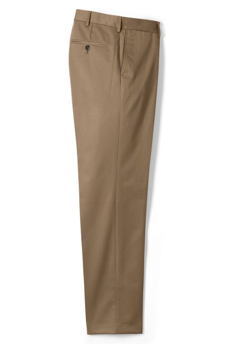 Men's Plain Front Traditional Fit No Iron Twill Dress Pants