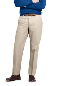 Men's Long Plain Front Traditional Fit No Iron Twill Dress Pants