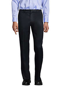 Men's Long Traditional Fit No Iron Twill Dress Pants, alternative image
