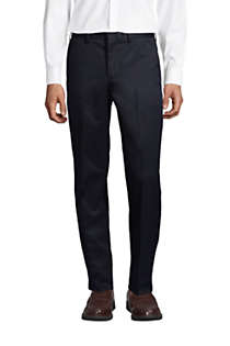 Men's Long Traditional Fit No Iron Twill Dress Pants, Front
