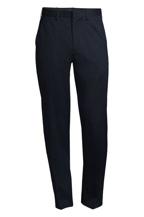 Men's Big and Tall Comfort Waist No Iron Twill Dress Pants