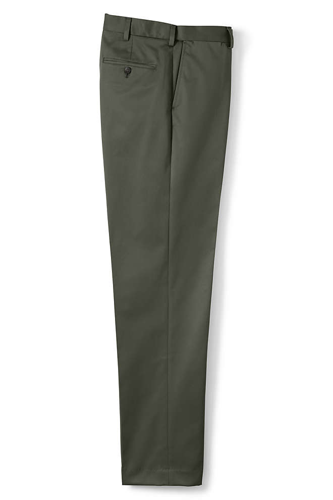 Men's Comfort Waist No Iron Twill Dress Pants, Front
