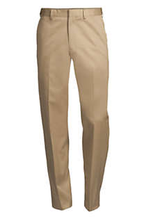 Men's Big and Tall Comfort Waist No Iron Twill Dress Pants, Front