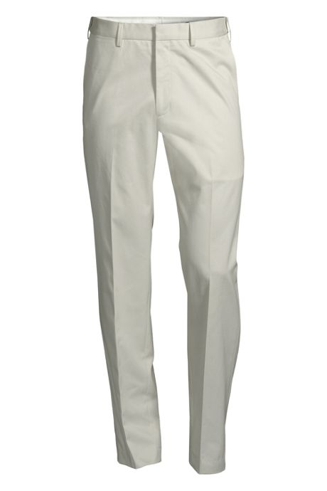 Men's Traditional Plain No Iron Comfort Waist Twill Dress Trouser