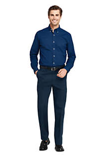 Men's Comfort Waist No Iron Twill Dress Pants, alternative image