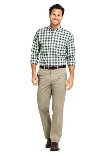 Men's Comfort Waist No Iron Twill Dress Pants