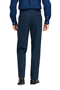 Men's Comfort Waist No Iron Twill Dress Pants, Back
