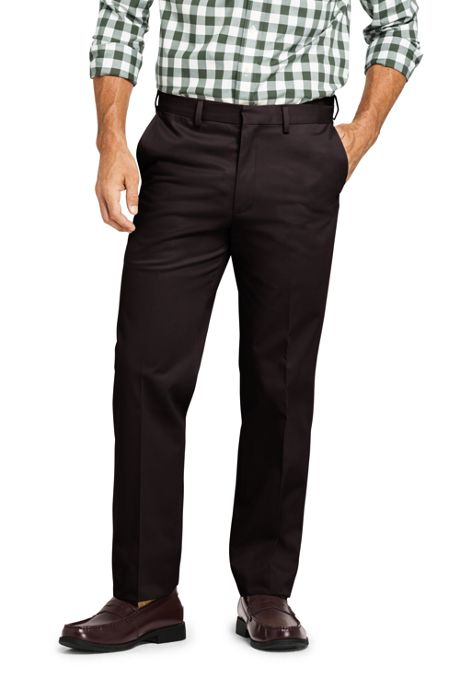 Men's Comfort Waist No Iron Twill Pants