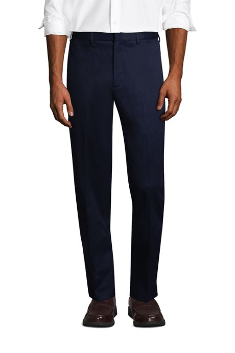 Men's Long Comfort Waist No Iron Twill Dress Pants
