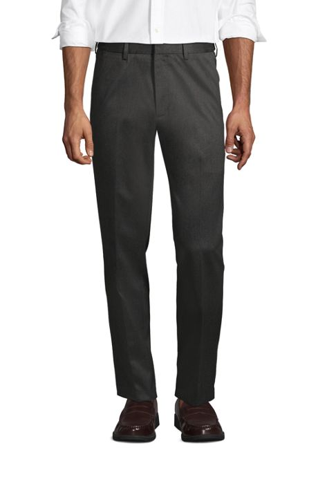 Men's Long Comfort Waist No Iron Twill Dress Pants