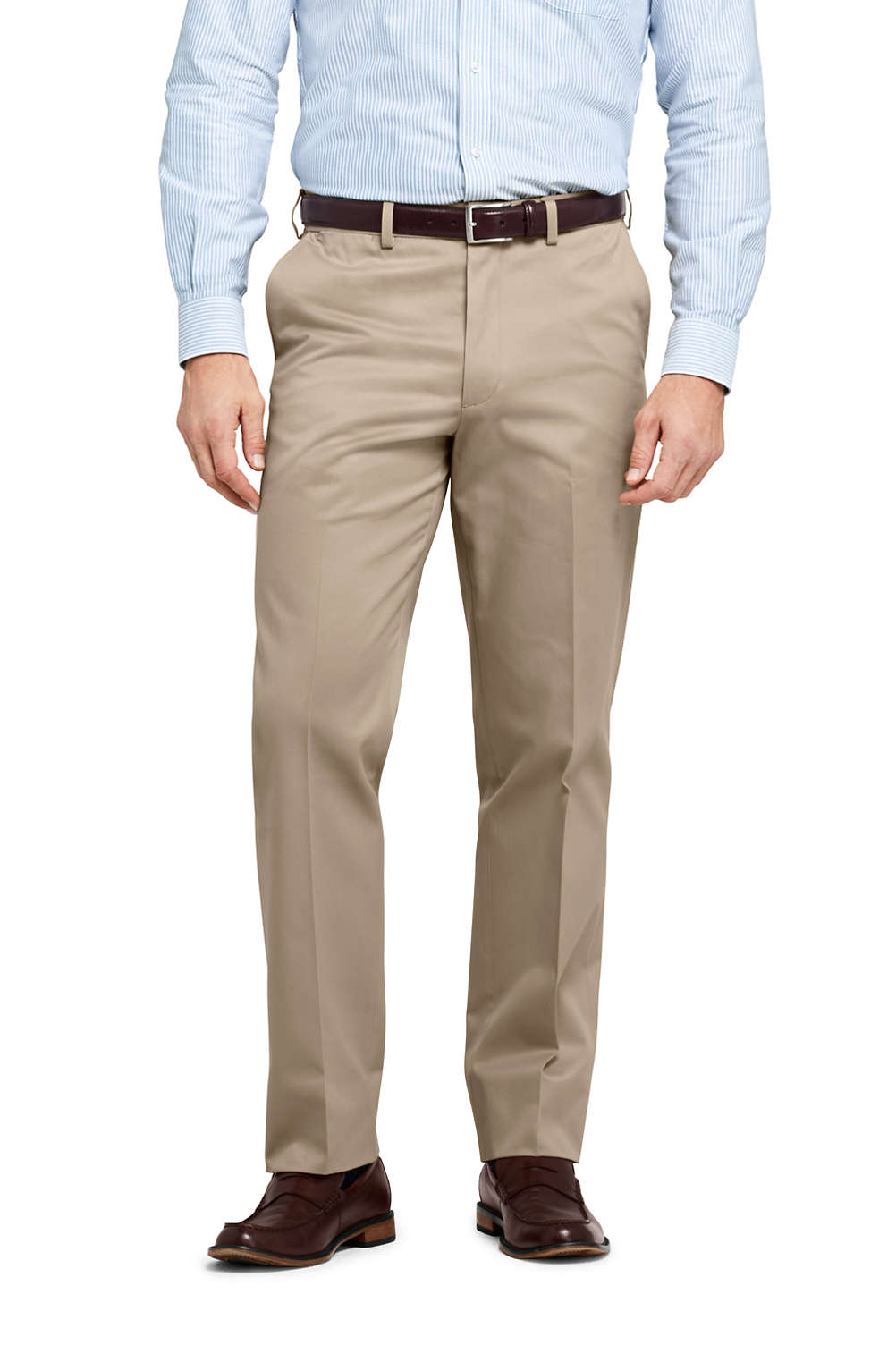 c531ad46671b Men s Comfort Waist No Iron Twill Dress Trousers from Lands  End