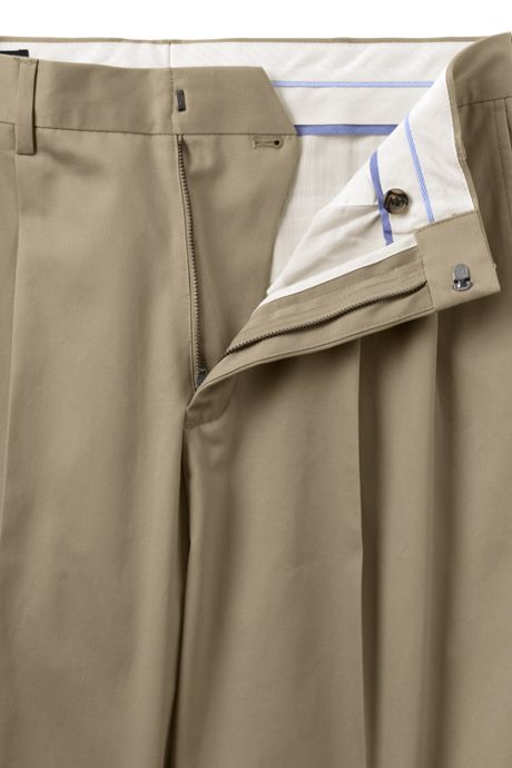Men's Big and Tall Traditional Fit Pleat No Iron Twill Dress Pants
