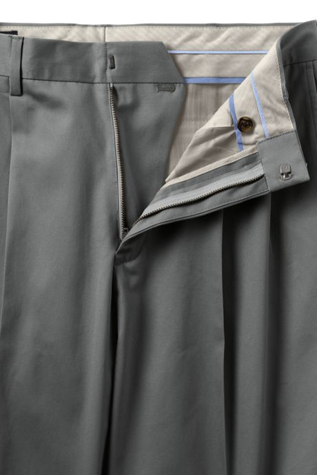 Men's Pleat Front Traditional Fit No Iron Twill Dress Pants