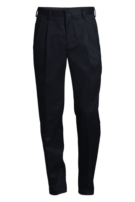 Men's No Iron Dress Twill Pleat Traditional Trousers