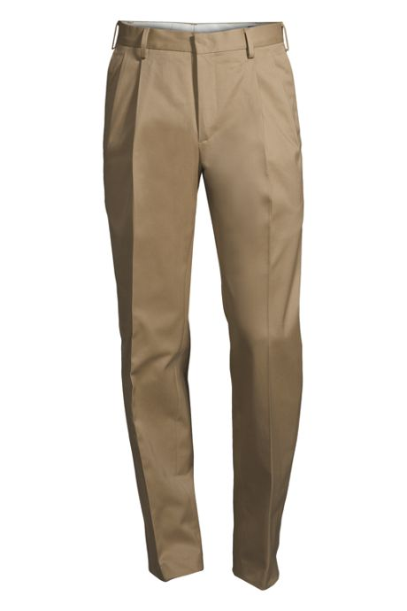 Men's Big and Tall Traditional Fit Pleated No Iron Twill Dress Pants