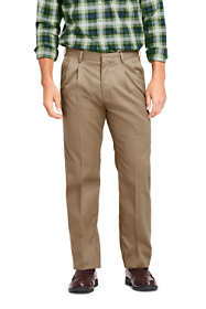 Men's Traditional Fit Pleated No Iron Twill Pants