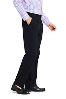 Men's Traditional Fit Pleated No Iron Twill Dress Pants, Unknown