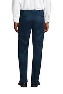 Men's Traditional Fit Pleated No Iron Twill Dress Pants, Back