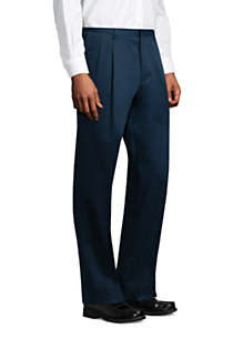 Men's Traditional Fit Pleated No Iron Twill Dress Pants, alternative image