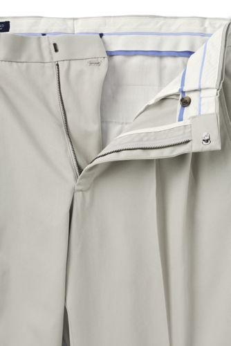 Men's Comfort Waist Pleated No Iron Twill Dress Pants