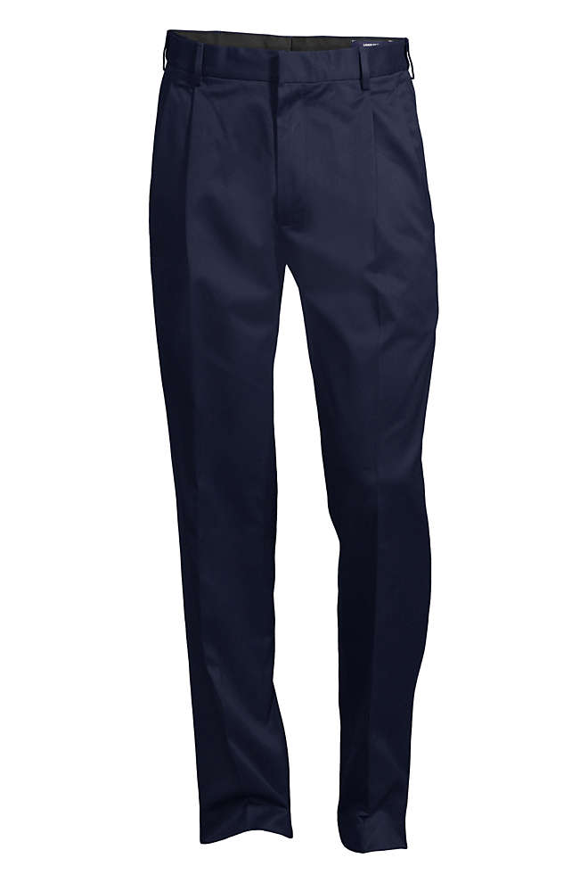 Men's Big and Tall Comfort Waist Pleated No Iron Twill Dress Pants, Front