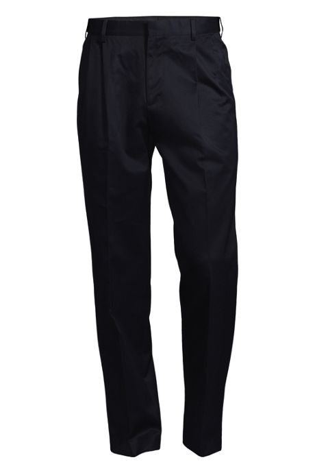 Men's Big & Tall Comfort Waist Pleat Twill No Iron Dress Trousers