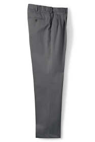 Men's Comfort Waist Pleat Twill No Iron Dress Trousers