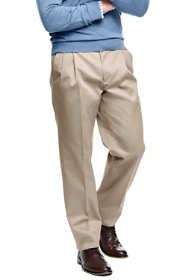 Men's Big and Tall Comfort Waist Pleated No Iron Twill Dress Pants