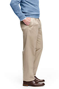 Men's Big and Tall Comfort Waist Pleated No Iron Twill Dress Pants, Right